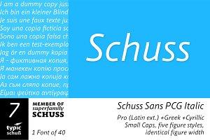 SchussSansPCGIta No.07 (1 Font)