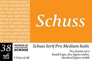 SchussSerifProMedIta No.38 (1 Font)