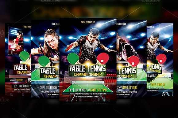 Table Tennis Flyer Template-Graphicriver中文最全的素材分享平台