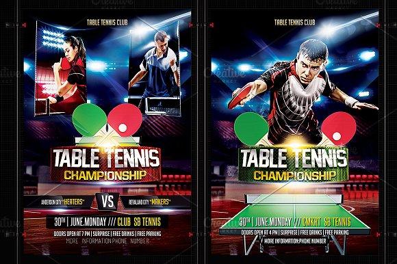 Table tennis flyer template flyer templates creative market fandeluxe Gallery