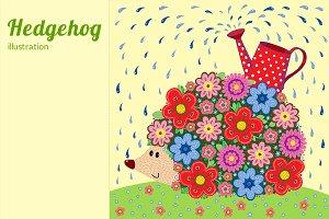 Illustration hedgehog