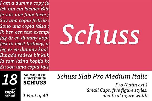 SchussSlabProMedIta No.18 (1 Font)