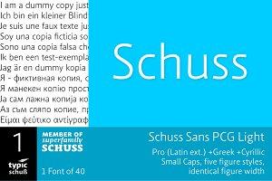 SchussSansPCGLight No.01 (1 Font)
