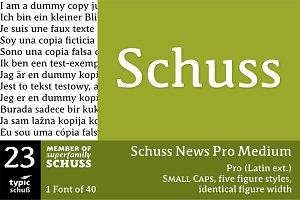SchussNewsProMedium No.23 (1 Font)