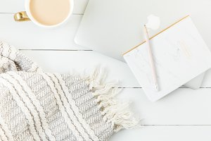 Blog Stock Photo + Laptop + Notebook