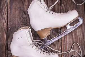 female white leather skates
