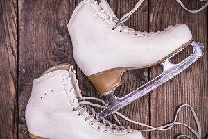 female white leather skates