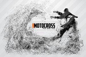 Silhouette of a motocross rider