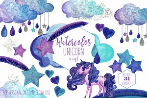 Magical Unicorn Rainbows & Clouds