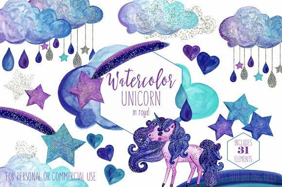 Magical Unicorn Rainbows & Clouds