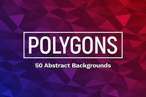 50 Polygons Backgrounds
