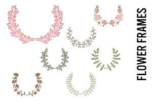 Doodle Floral Frames-Vintage Pastels