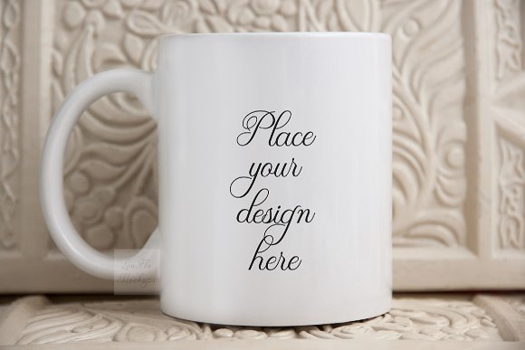 white mug mockup, coffee cup 11oz