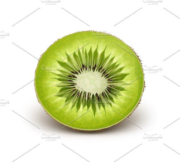 Half cut green kiwi