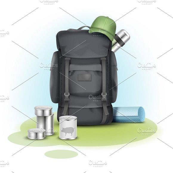 Vector camping stuff