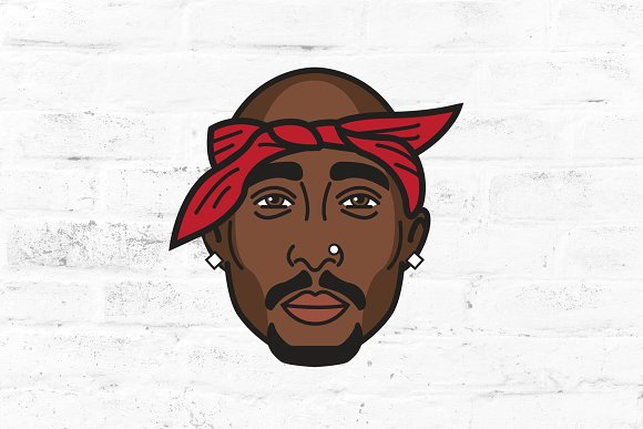 Tupac Shakur Vector Illustration