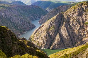 Canyon of the river sil in ourense S