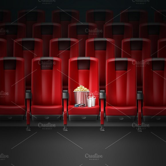 Comfortable seats in cinema theater