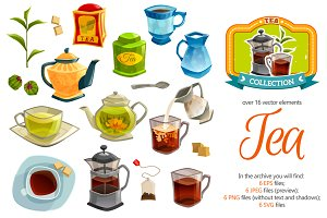 Tea Cartoon Set