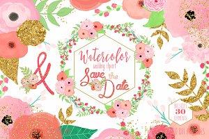 Peach & Blush Pink Wedding Florals