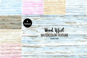 Watercolor Wood Effect Texture