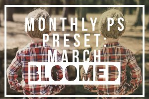 Monthly Photoshop Action: March