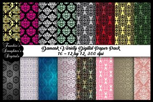 Damask Variety Digital Papers