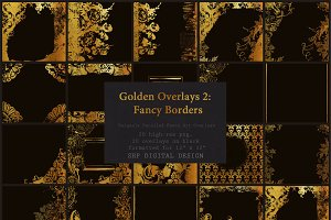 Golden Overlays:  Frames & Borders