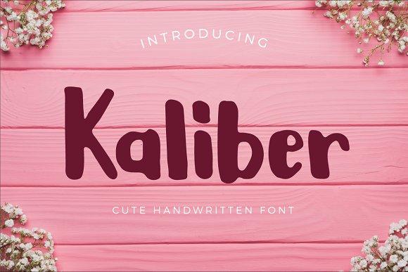 Kaliber Cute Typeface
