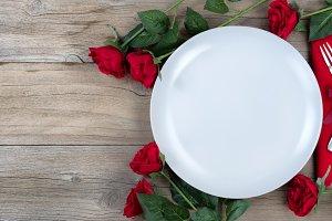 Valentine Dinner Setting