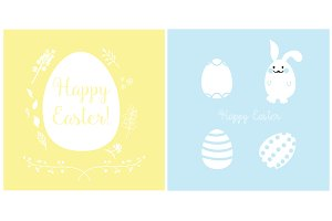 Easter Cards Design Vector