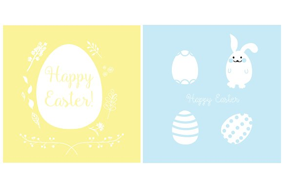Easter Cards Design Vector