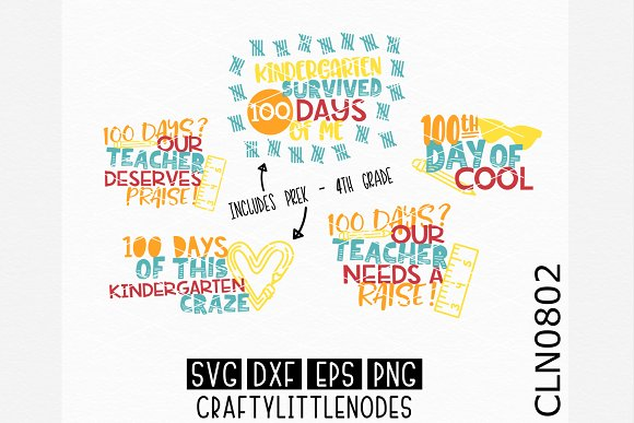 100 Days Of School Bundle SVGs