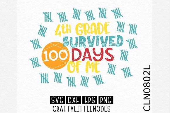 4th Grade Survived 100 Days Of Me SV in Illustrations