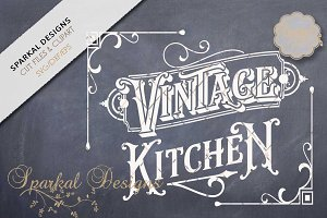 Vintage Kitchen Sign Stencil SVG