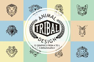 A to L Animal Tribal Design