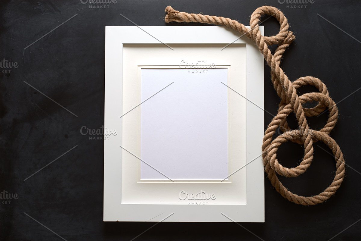 Nautical Rope Picture Frame Mockup in Mockup Templates - product preview 1