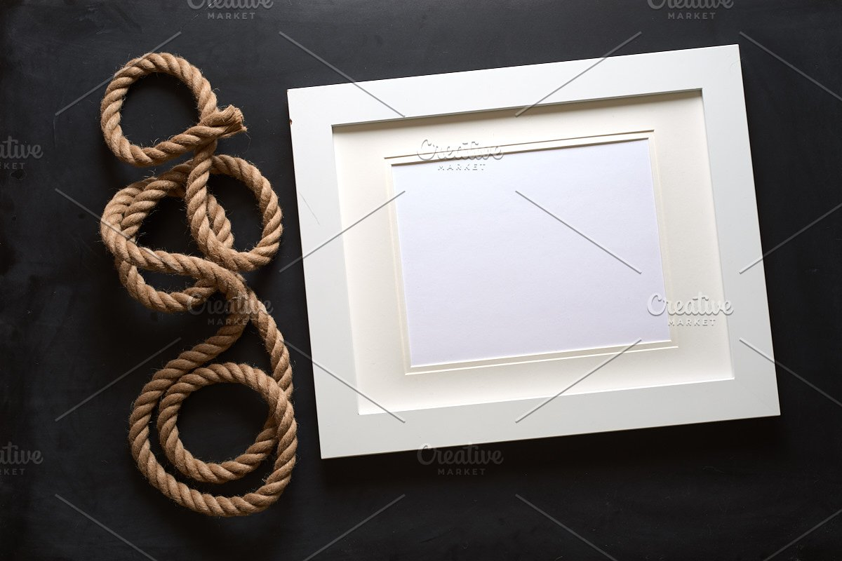 Nautical Rope Picture Frame Mockup in Mockup Templates - product preview 2