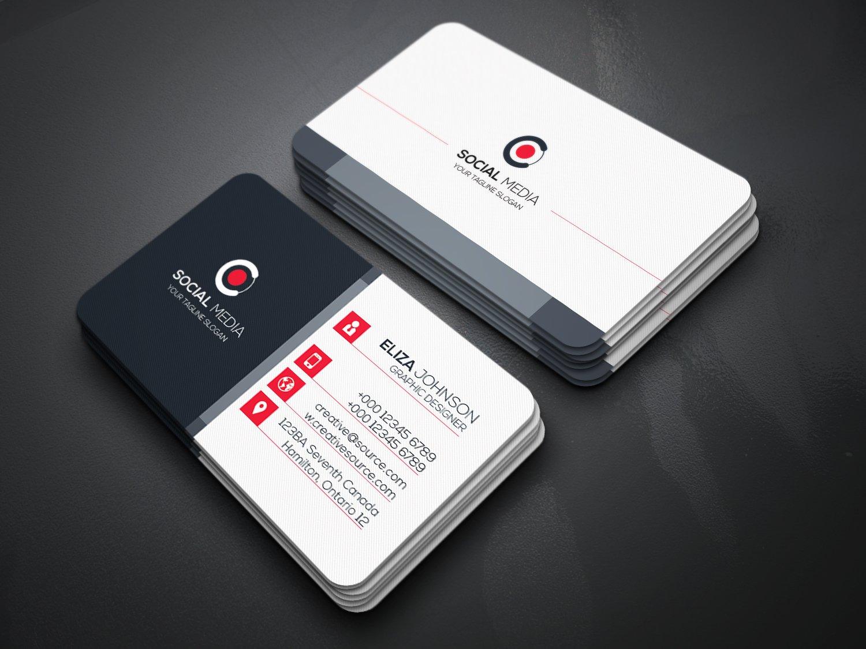 Social Media Business Card ~ Business Card Templates ~ Creative Market