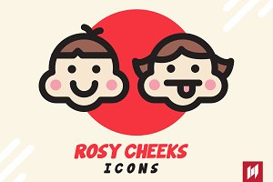 Rosy Cheeks Emoticon Set