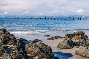 Beautiful beach at Bridport, Tasmani