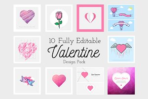 10 Fully Editable Valentine Design