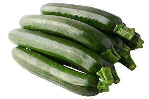 Isolated group of zucchini