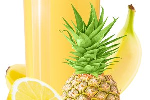 pineapple, banana and lemon juice