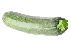 One courgette isolated on white