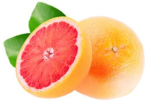 One fresh grapefruit and half