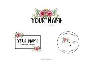 Magenta Flower Premade Logo