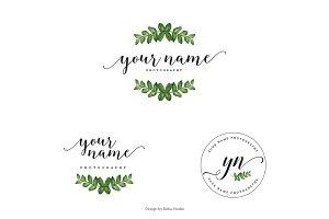 Green Leaf Premade Logo