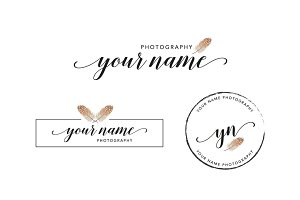 Feather Polkadot Premade Logo