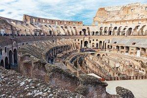 Interior of Colosseum in Rome